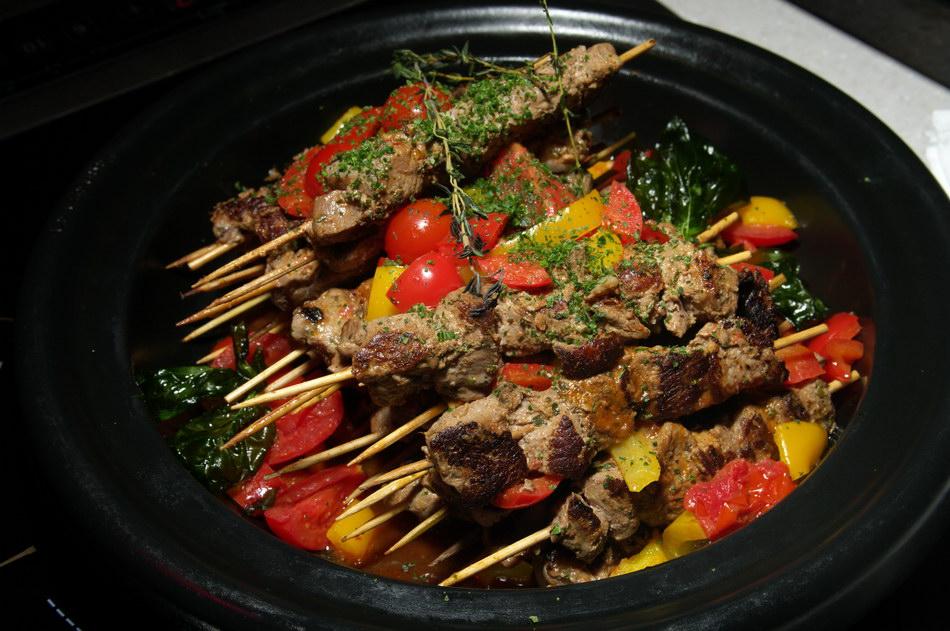 Блюда из мяса на костре